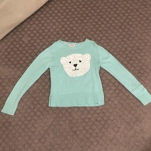 Girls sweater w/ sequin polar bear